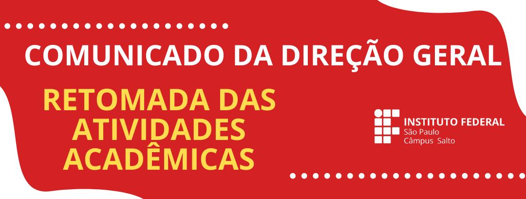 COMUNICADO 02/2020 – DRG RETOMADA DAS ATIVIDADES ACADÊMICAS