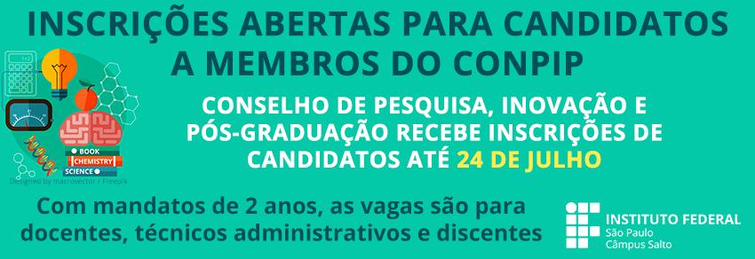 INSCRIÇÕES ABERTAS PARA CANDIDATOS A MEMBROS DO CONPIP