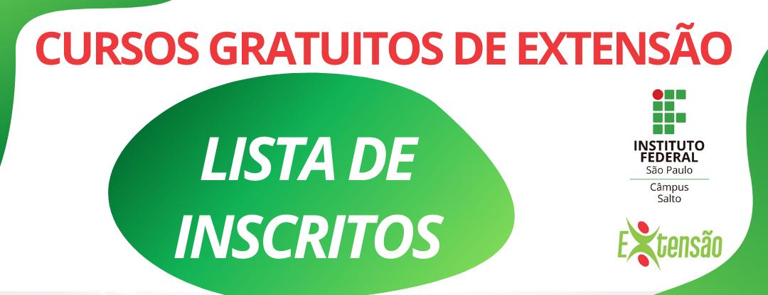 RESULTADO EDITAL 06/2020 DE CURSOS DE EXTENSÃO